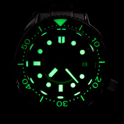Proxima PX1683 SBDX001 Monoblock NH35 Automatic ScubaMaster Wristwatch Brush Metal Coffee Dial