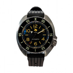 Uni-Dive  UD1683  turtle 6105 black dial Diver Automatic Wristwatch removable case