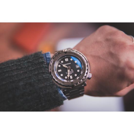 Proxima  PX1682 SBBN015 Tuna Black dial NH35 Diver Automatic Wristwatch ScubaMaster