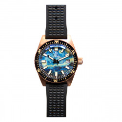 PROXIMA PX1681 BRONZE CUSN8 VINTAGE STYLE BUBBLE SAPPHIRE GLASS Starry Sky DIAL